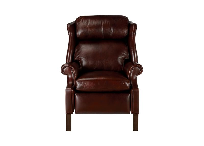 Townsend Leather Recliner, Old English/Chocolate