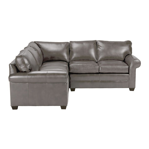 Charmant Bennett Three Piece Leather Sectional, Quick Ship