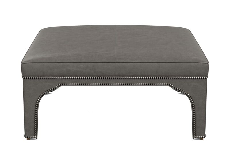 Gavin Leather Square Cocktail Ottoman ,  , large_gray