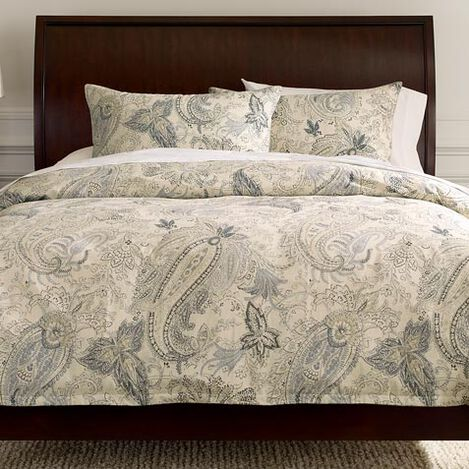 Sydney Paisley Duvet Cover and Shams ,  , large