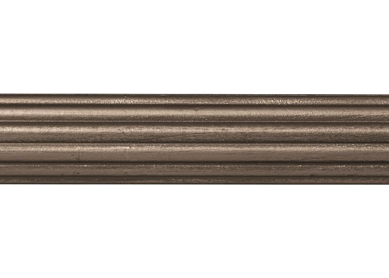 "1 3/8"" Fluted Wood Pole, Oil-Rubbed Bronze ,  , large_gray"