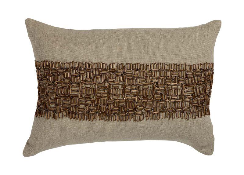Beaded Band Pillow