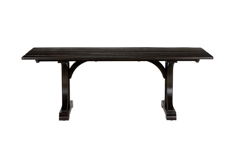 Corin Rough Sawn Trestle Dining Table