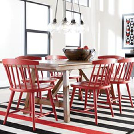 lenox trestle table clearance dining - Chairs For Dining Room Table