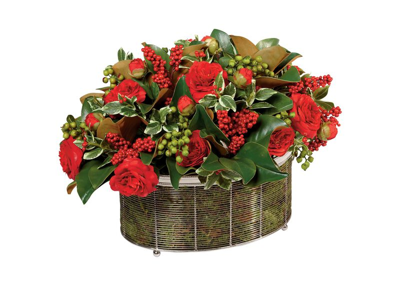 Seasonal Mix in Wire Basket