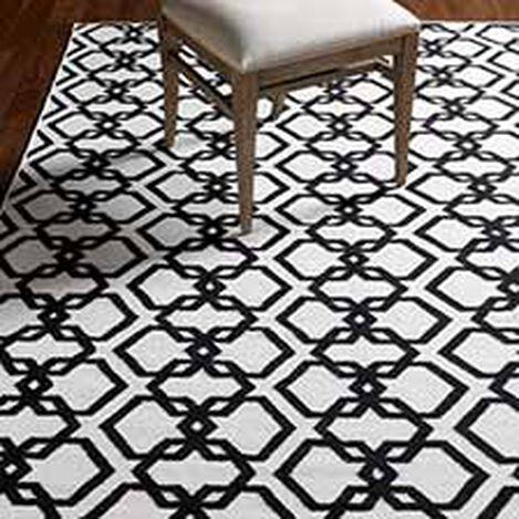 Interlock Rug, Ivory/Black ,  , hover_image