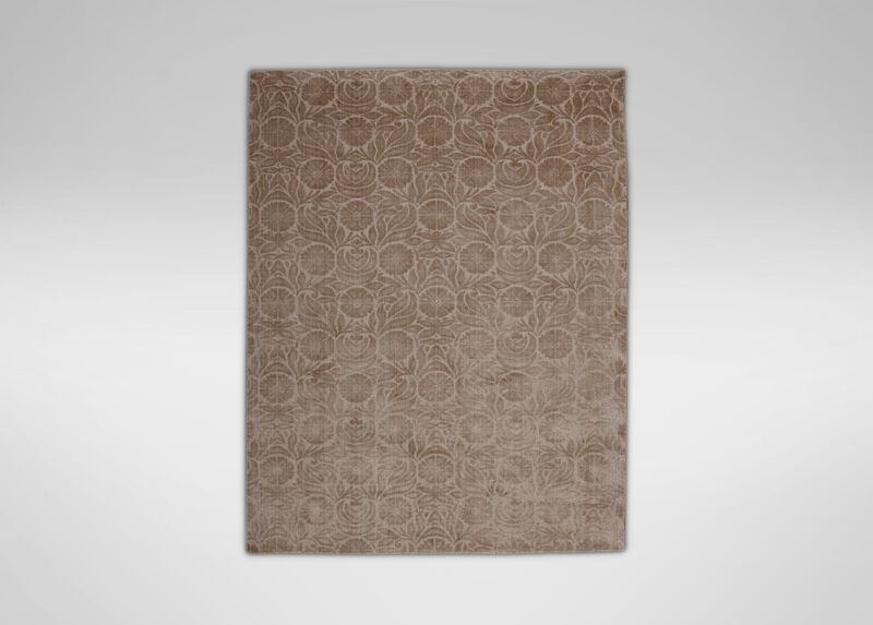 Floral Jacquard Rug, Buff ,  , large_gray