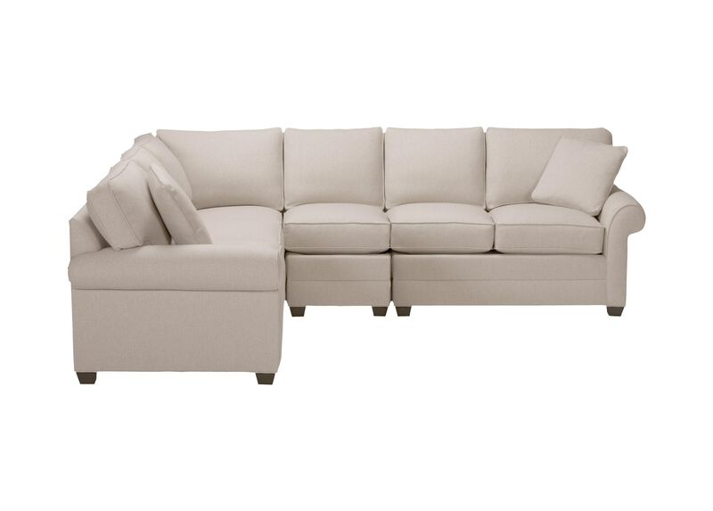 Bennett Roll-Arm Four-Piece Sectional, Quick Ship