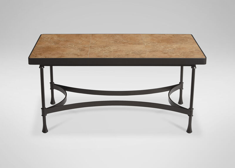 Biscayne Coffee Table with Light Porcelain Top ,  , large_gray