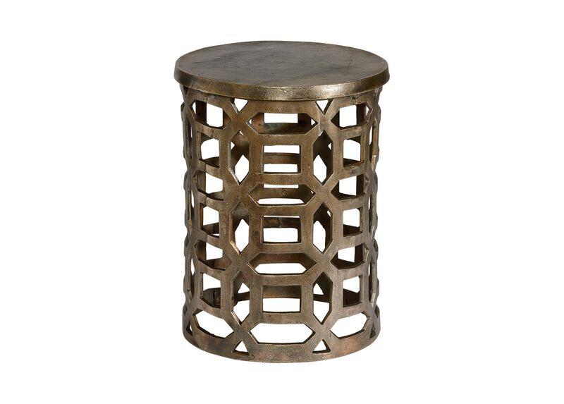 Bennie Pierced Brass Stool