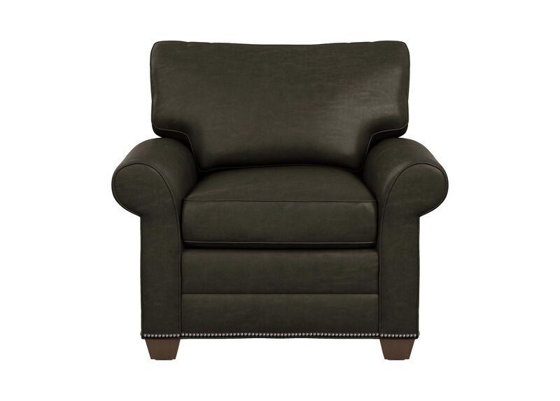 Bennett Roll-Arm Leather Chair