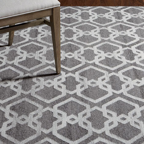 Interlock Rug, Gray/Ivory Product Tile Hover Image 041215T