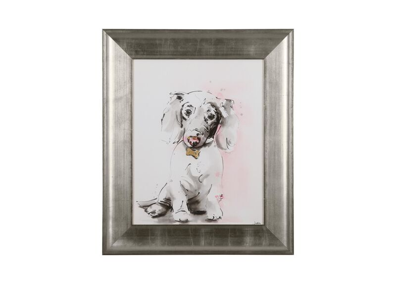 Glamour Dog Sketch VI, Silver ,  , large_gray