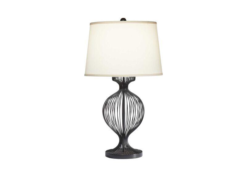 Kenzie Black Cage Table Lamp