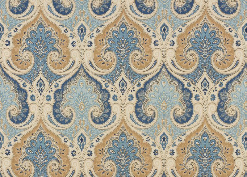 Anjali Blue Fabric by the Yard