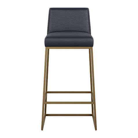 Jewel Metal Base Leather Barstool