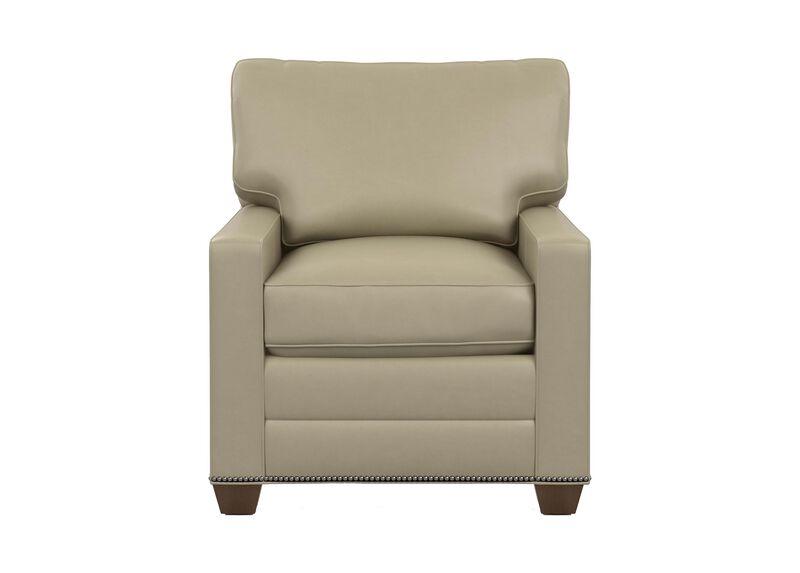 Bennett Track-Arm Leather Chair