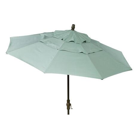 Spa Blue Round Market Umbrella ,  , large