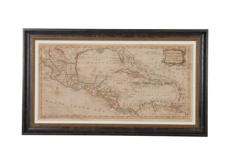 Elongated West Indies Map ,  , large_gray