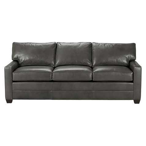 Merveilleux Bennett Track Arm Leather Sofa, Quick Ship , , Large