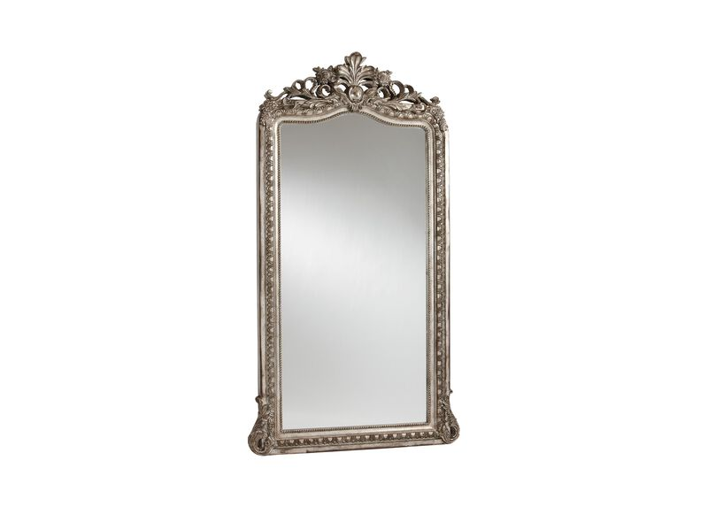 Aged Silver Luxe Floor Mirror