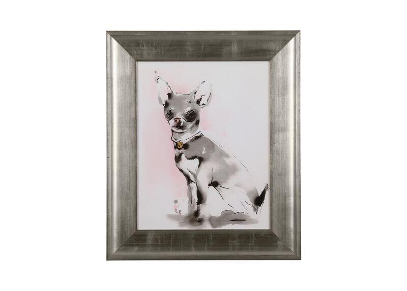 Glamour Dog Sketch III, Silver