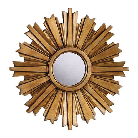 Mini Gold Starburst Mirror ,  , large