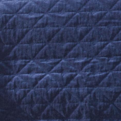 Gresham Navy Velvet Coverlet and Shams Product Tile Hover Image greshamnavy