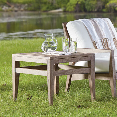 Bridgewater Cove Teak Side Table Product Tile Hover Image 404110   790
