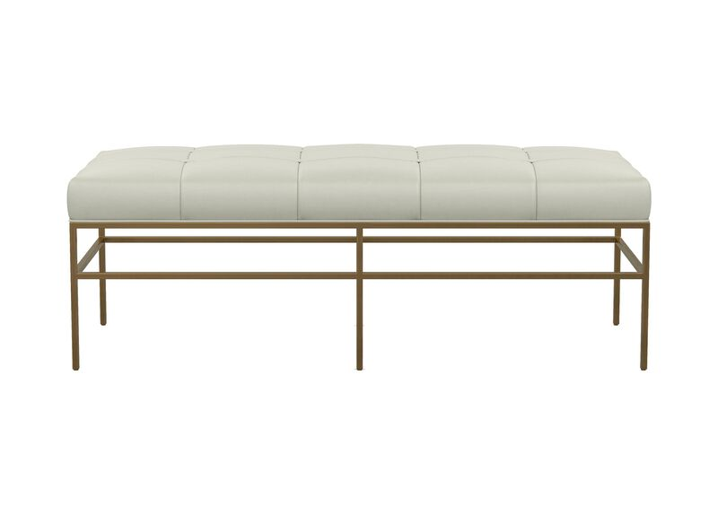 Ferri Upholstered Leather Metal Bench