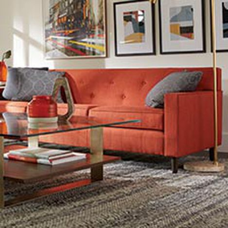 Image of: Red Furniture Living Room Intended Save 25 Shop Sofas And Loveseats Leather Couch Ethan Allen