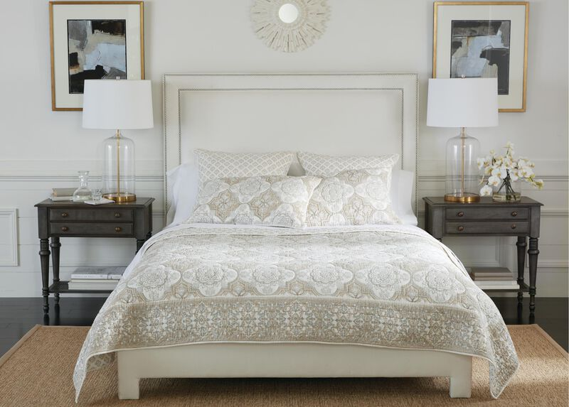 Tile Block Print Quilt and Sham at Ethan Allen in Ormond Beach, FL | Tuggl