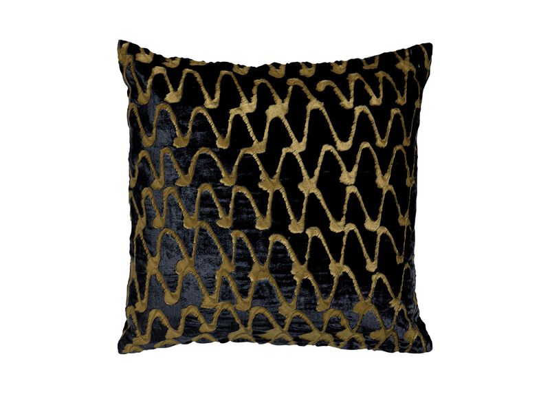 Ripple Pillow, Navy/Gold