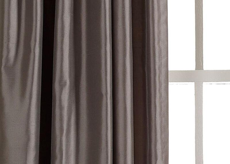 Charcoal Satin Dupioni Fabric by the Yard
