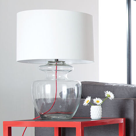 Grand Glass Table Lamp Product Tile Hover Image 096005   CLR