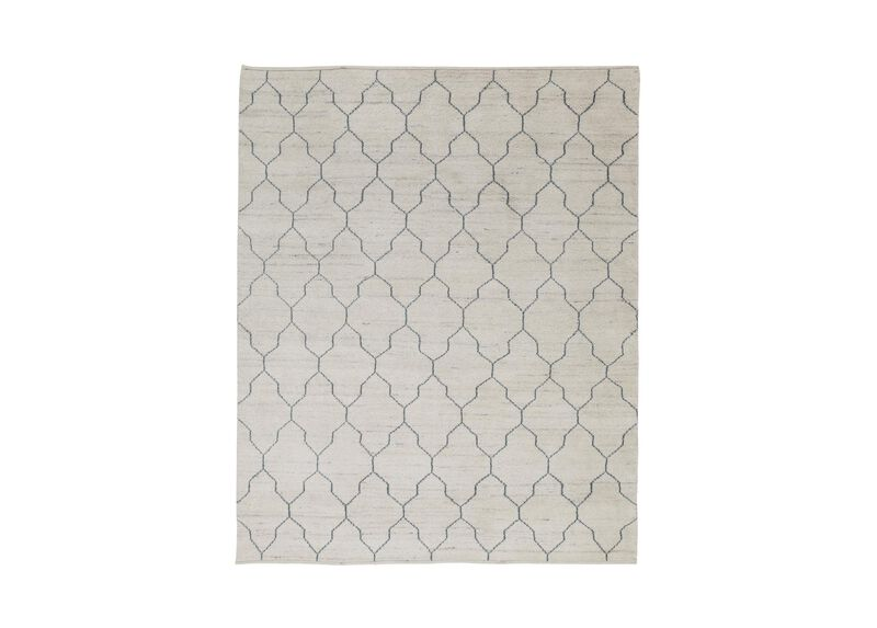Tulu Lattice Rug, Natural/Seafoam