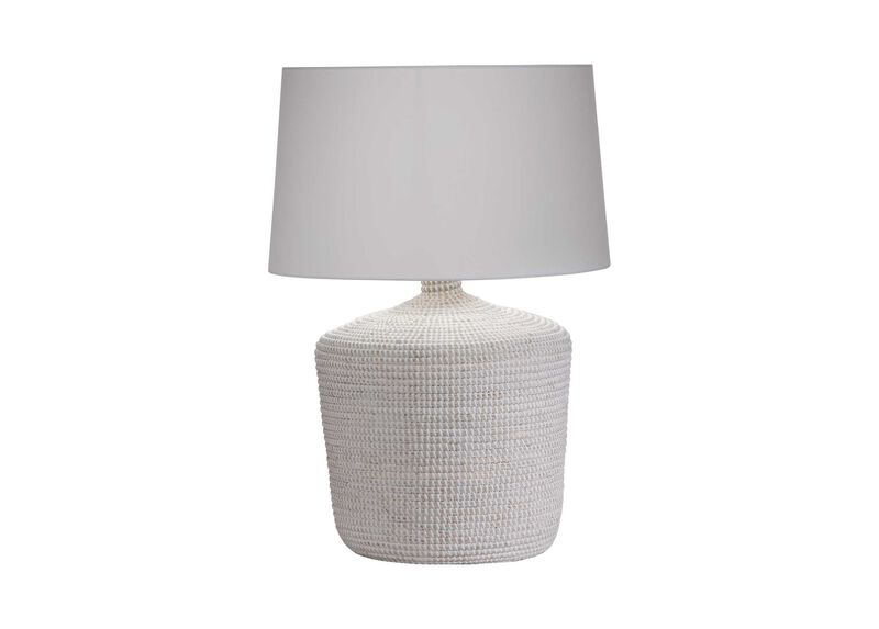 Seneca Woven Table Lamp, White
