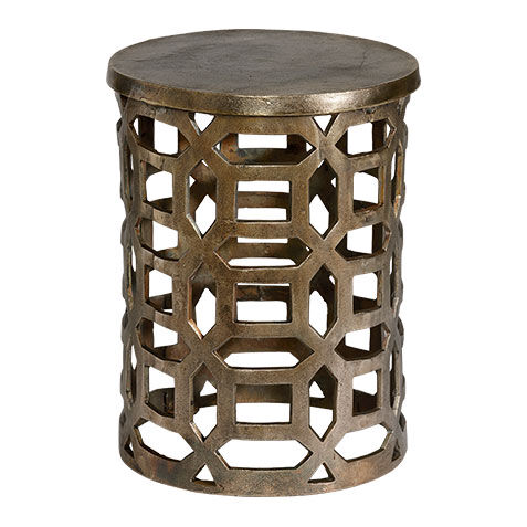 Bennie Pierced Brass Stool , , Large ... Part 34