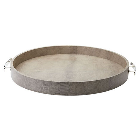 Embossed Round Leather Tray Product Tile Image 432081