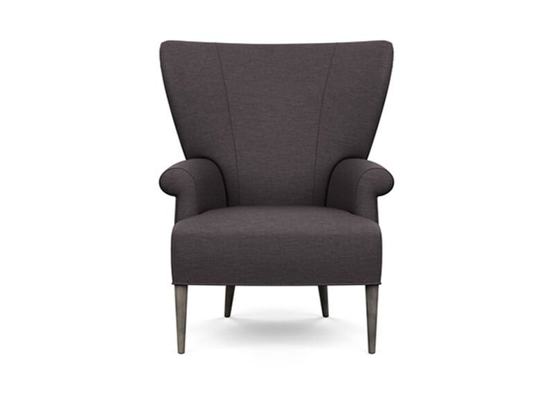 Bravo Chair , Zest Charcoal (D1054), strie texture , large_gray