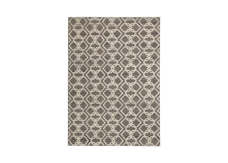 Interlock Rug, Gray/Ivory