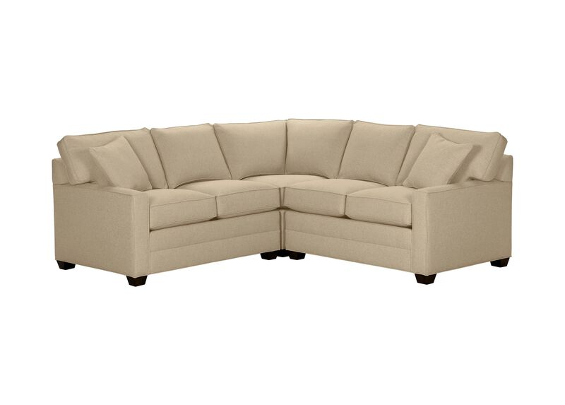 Bennett Track-Arm Three Piece Sectional, Quick Ship , Hailey Oatmeal (Q1033), solid texture , large_gray