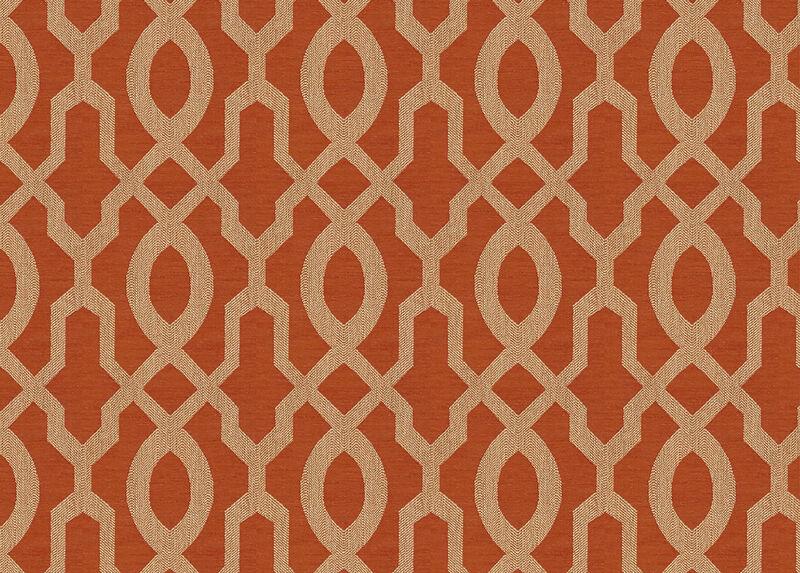 Maj Tangerine Fabric by the Yard