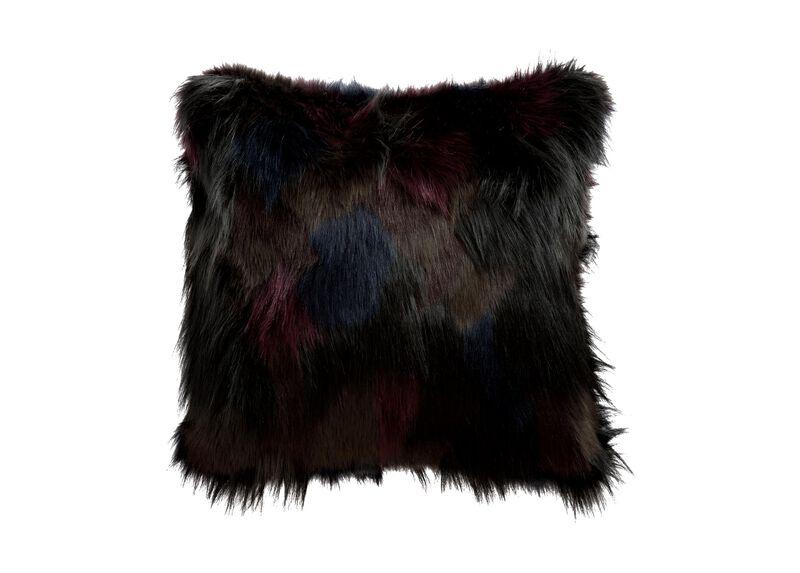 Faux Fur Mosaic Pillow