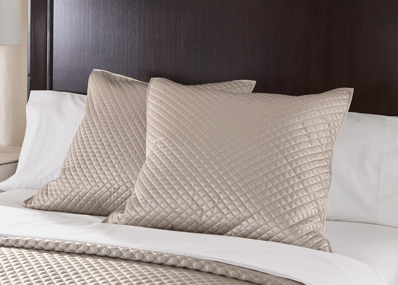 Salena Quilted Euro Sham, Taupe