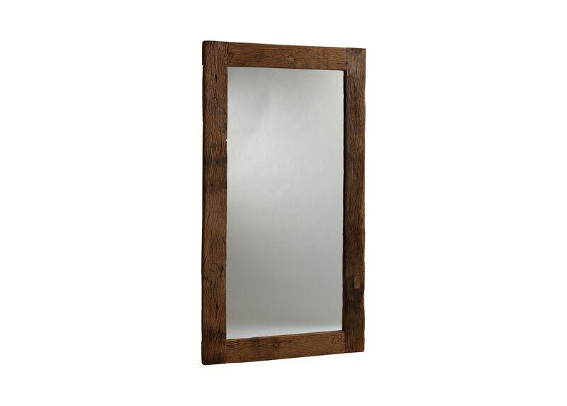 Reclaimed Wood Floor Mirror