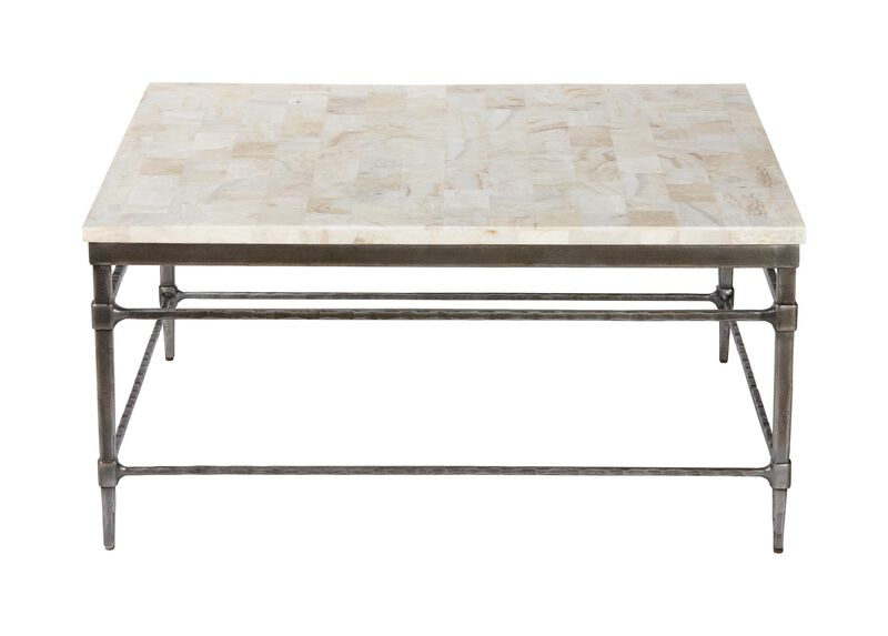 Vida Square Stone Top Coffee Table Coffee Tables Ethan
