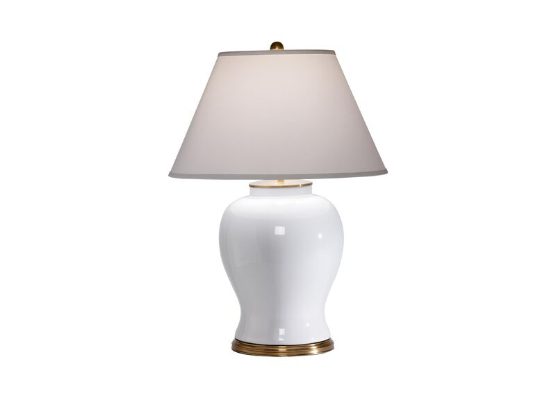 Keeley White Table Lamp ,  , large_gray