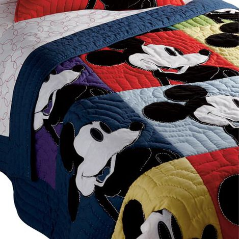 Color Block Mickey Mouse Quilt ,  , large