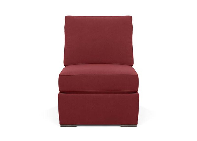 Meeting Place Armless Chair , Lucky Denim Red (D1200) , large_gray